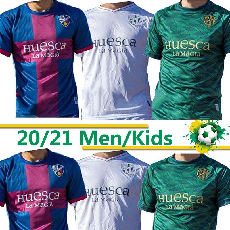 20 21 SD Huesca Soccer Jerseys Home Kids Kids 2021 2020 Camiseta de Fútbol Insua # 10 Cristo Okazaki Sergio Gómez Raba Football Shirts XXL