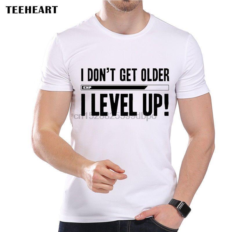 2019 Maschio più venduti Gaming I Don invecchio mi Level Up punti esperienza divertente scherzo uomini Camicia di T Estate Tee Shirt