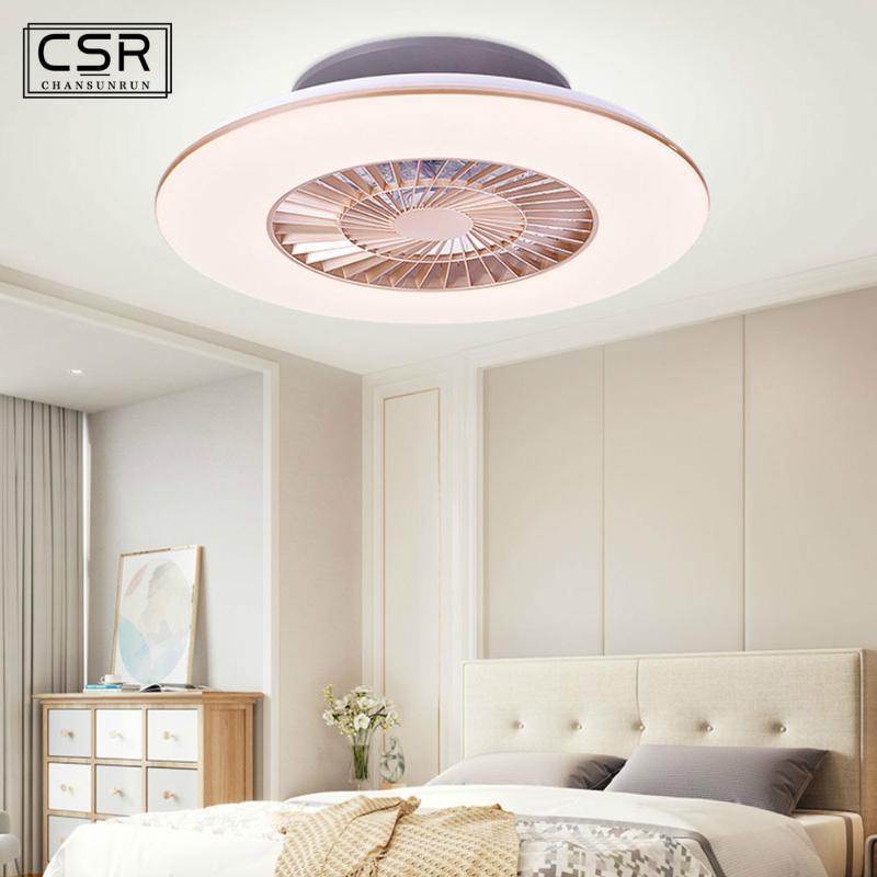 AC 220V LED Потолочный вентилятор лампа затемняя и пульт дистанционного управления для гостиной Детская Спальня Украшение Ультратонкий Потолочный вентилятор Свет