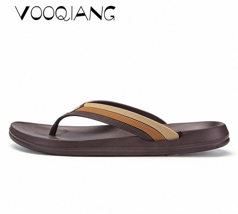 VOOQIANG Marka Gerçek Deri Ayakkabı Yaz Yeni Büyük Beden Erkek Sandalet Erkekler Sandalet Moda Ve Terlik Büyük Beden 40 44 Platform Topuklar 1tWG #
