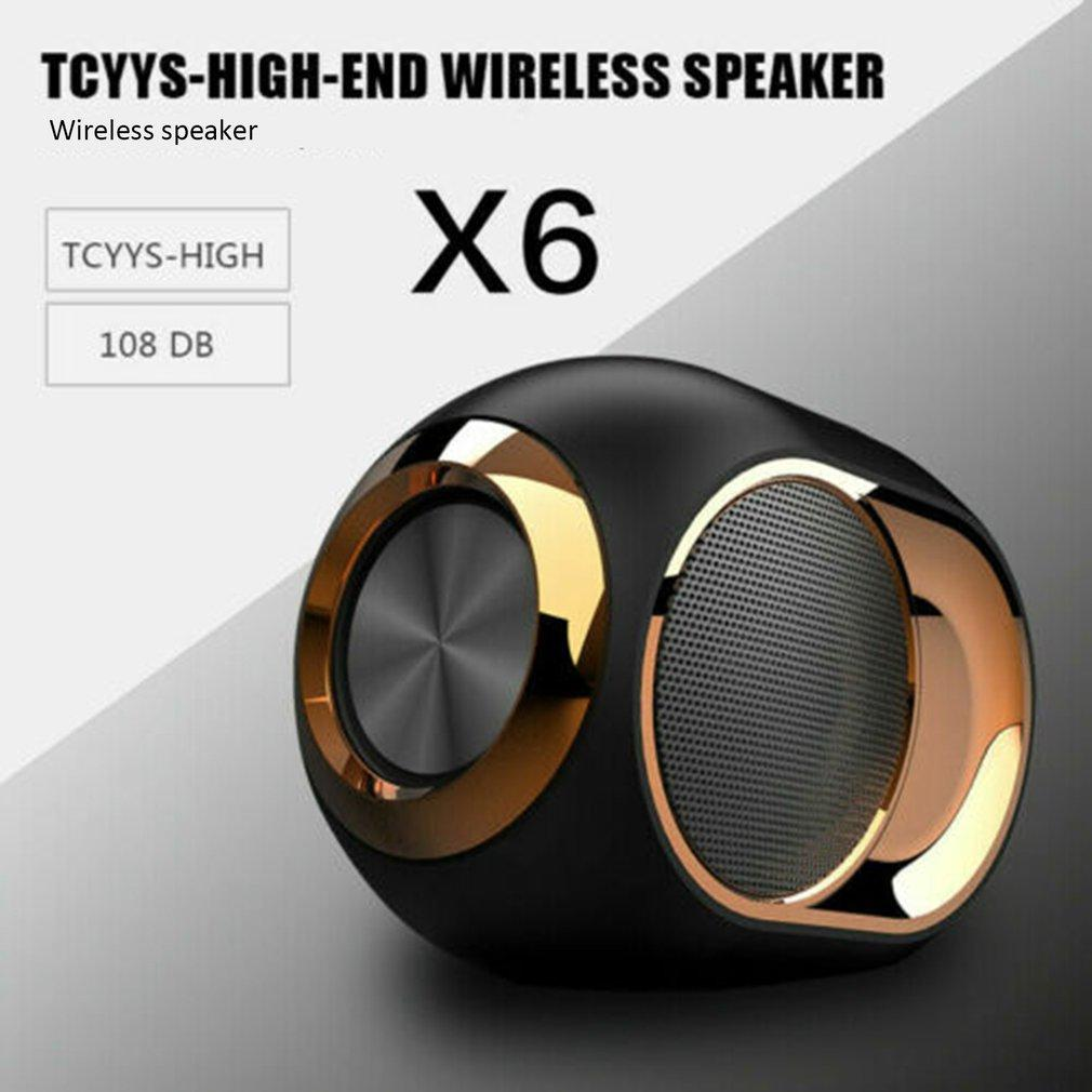 X6 HIFI Blueteeth altoparlante portatile senza fili Blueteeth 5,0 audio stereo soundbar Tasto FM TWS SD AUX mini Metal Rock Bass Speaker touch