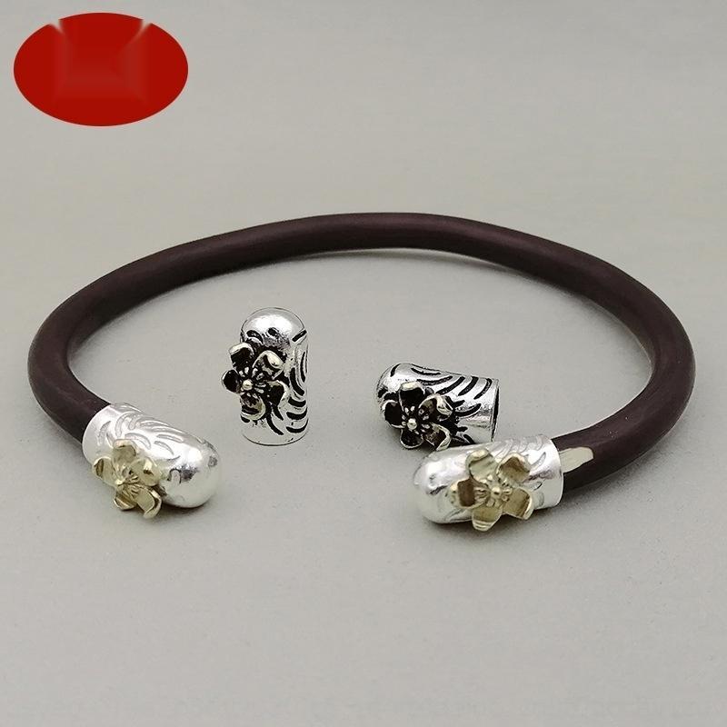 YOuR5 925 Zubehör Thai Silber Ebene Pullover Huhn Blut Silber GE sang Blume Hühnerblut Rebe Armband Pullover Diamant-V