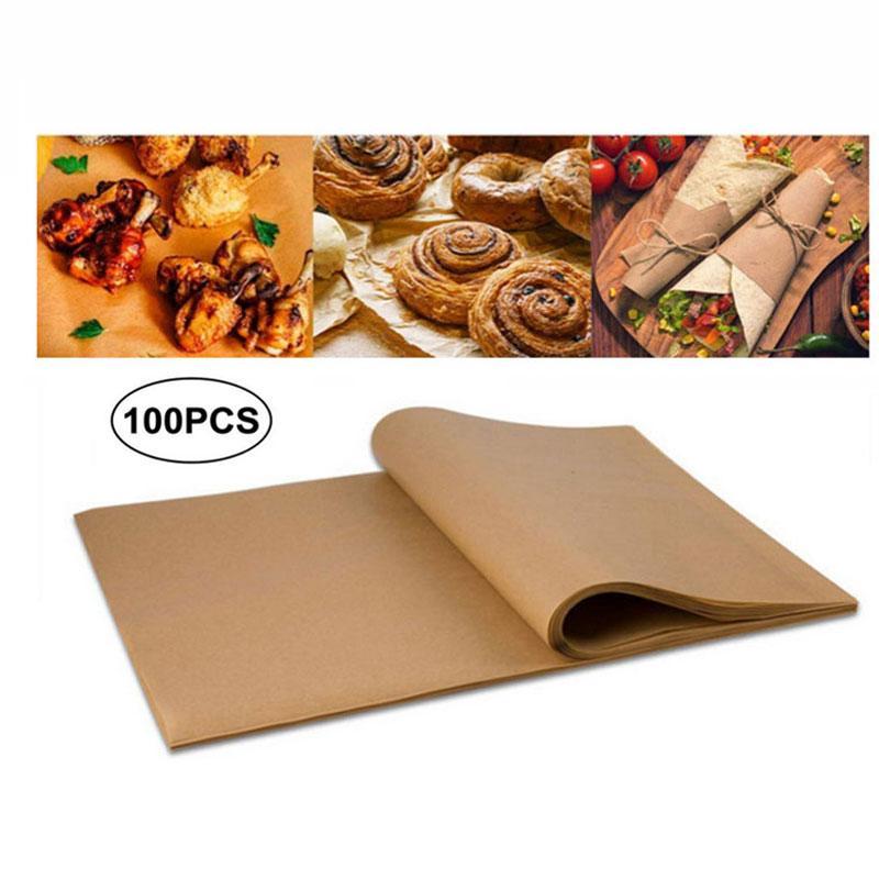 20 * 30cm Baking Folhas de papel Churrasco Baking Bakery BBQ Party Non-stick frente e verso do papel óleo de silicone pergaminho Retângulo Forno Papel VT1722