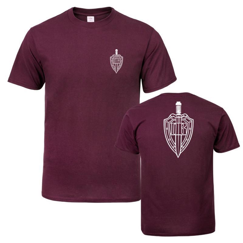 Le truppe di frontiera estate uomini del cotone di qualità manica corta T-Shirt girocollo grande sconto Uomo T