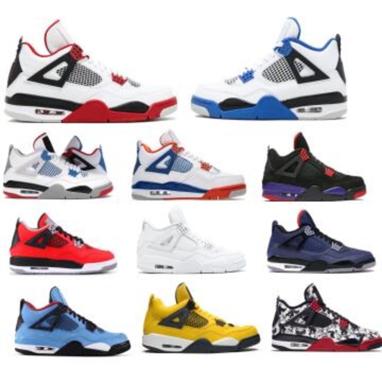 Jumpman 4 Mens Basketball Shoes Motorsports Winterized Loyal What The Raptors Fiba Tattoo Toro Bravo Flight 4s IV 2020 Women Tennis Sneakers