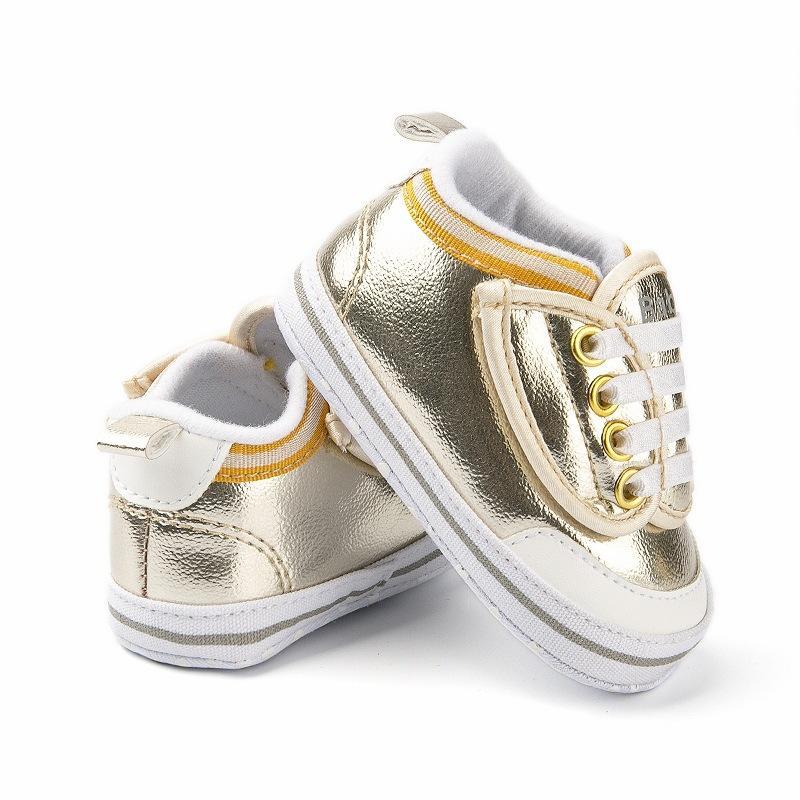 2020 Tuval Bebek Ayakkabı Yenidoğan Erkekler Kızlar İlk Yürüteç Bebek Bebek Yumuşak Alt Kaymayan Prewalker Sneakers