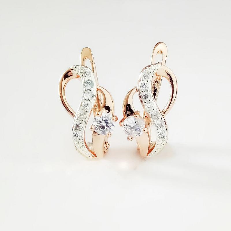 585 oro orecchino delle donne orecchino dei monili dell'oro di lusso in stile classico cubico zircone moda Corea orecchini