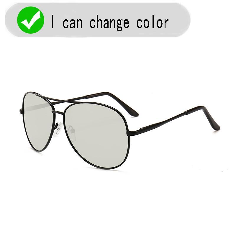 2020 gafas de los hombres nuevos de conducción Fotocromáticas gafas de sol polarizadas de los hombres camaleón decoloración Sun para la pesca UV400 gafas de sol
