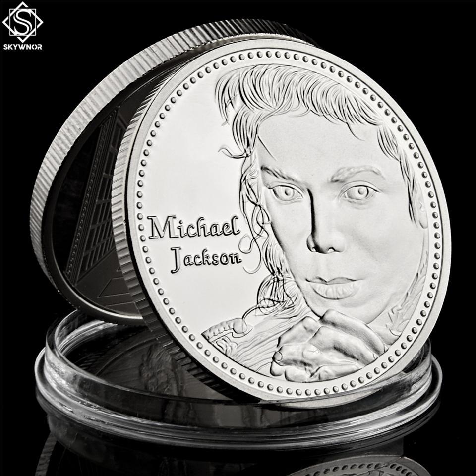 Coleção de moeda banhado Pop Souvenir decoração Super Star Michael Jackson moeda de prata comemorativa EUA