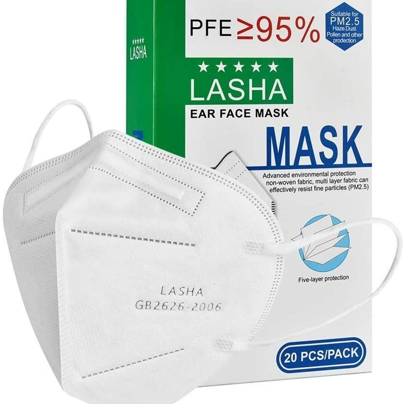 20pcs 5 Katmanlar Koruyucu Toz Güvenlik sonra atılan yüz maskeleri (3D Maskesi)