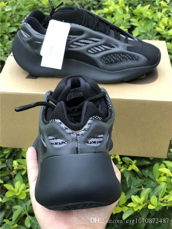2020 Kanye West 700 V3 Alvah Siyah Azael Koşu Ayakkabı 3M Yansıtıcı Dalga Runner Otantik Erkek Kadın Spor Sneakers ile Kutusu H67799