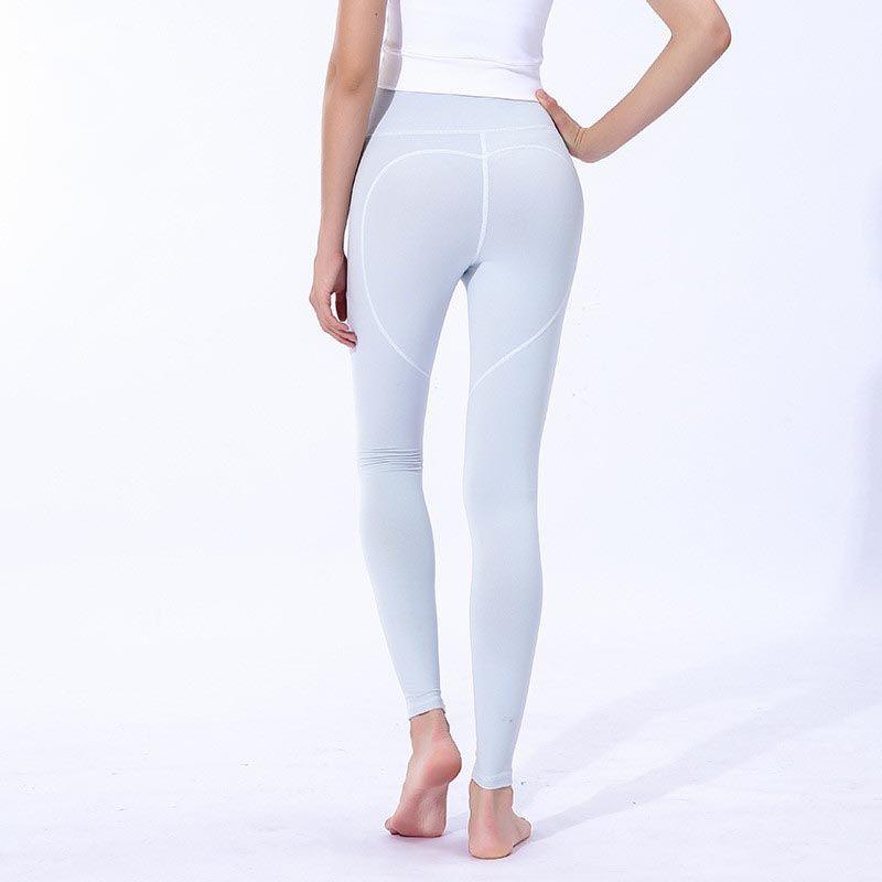 طماق الملابس Yogaworld الرياضة بنات ركض femmes اللياقة البدنية اليوغا السراويل تسع نقاط الرياضة دنة تمتد امرأة ضيقة