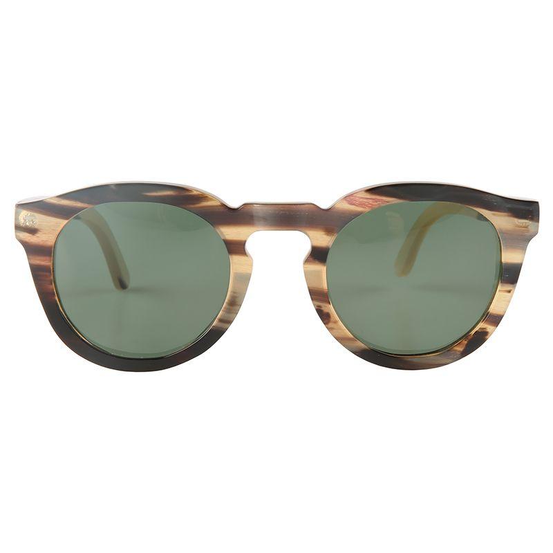 Unique oval round handmade yak horn polarized sunglasses unisex for men and women horn glasses eyeglasses eyewear