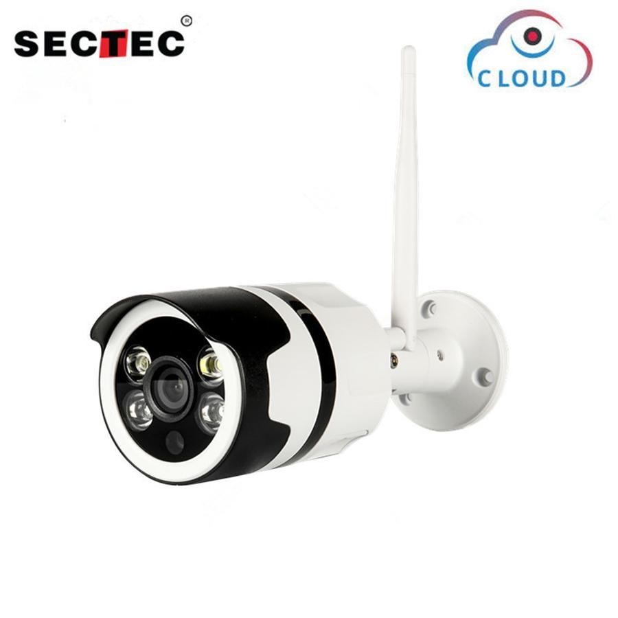 SECTEC Wifi Outdoor IP Camera 1080P 720P Waterproof Wireless Security Camera Two Way Audio Night Vision P2P Bullet CCTV Camera