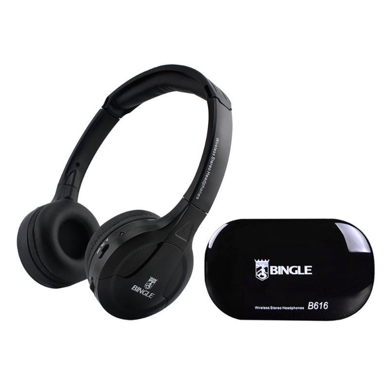 Bingle B616 Многофункциональный беспроводной стерео наушники Ear гарнитура FM-радио Проводные наушники передатчик для MP3 PC TV Телефоны