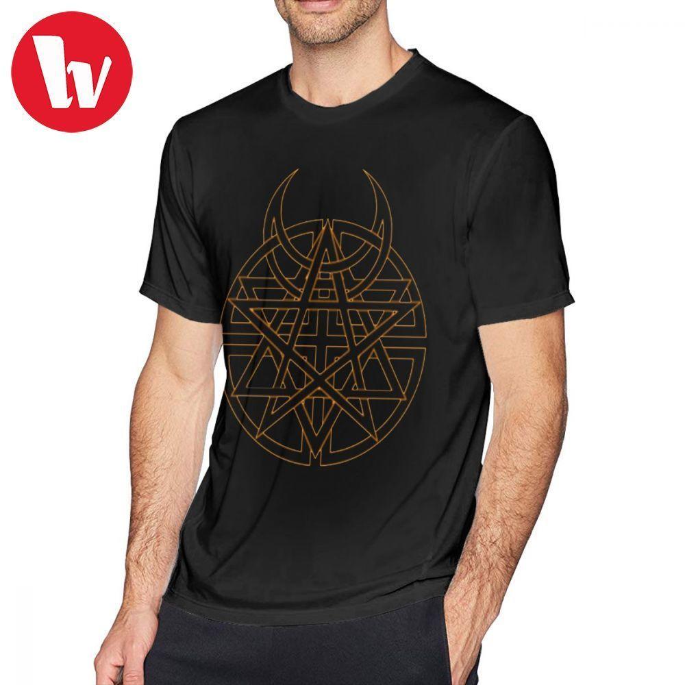 Disturbed Camiseta Symbol T-shirt tribal do Disturbed XXX de manga curta camiseta Fun Impresso Masculino Casual Cotton T-shirt