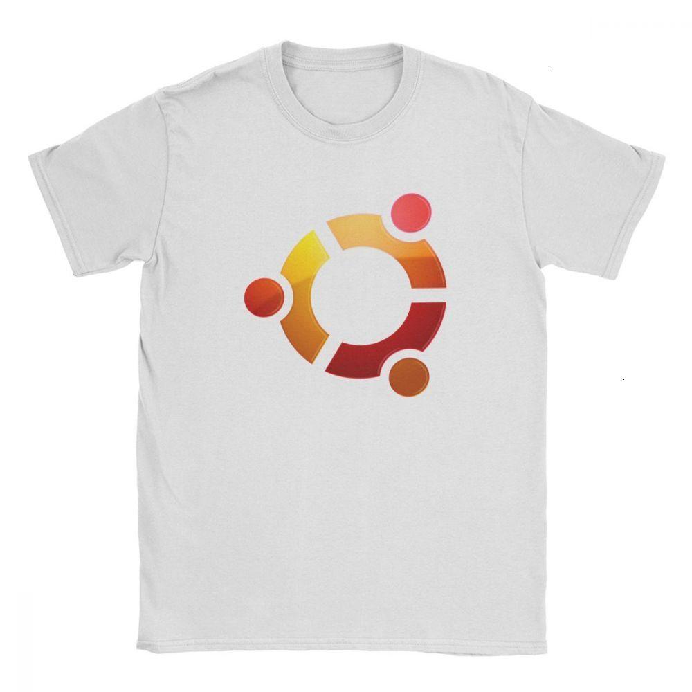 HKFZ Ubuntu Linux Logo T-Shirt Männer Weinlese aus reiner Baumwolle T-Shirts Runde Kragen Kurzarm-T-Shirts in Übergrößen Kleidung Plus Size