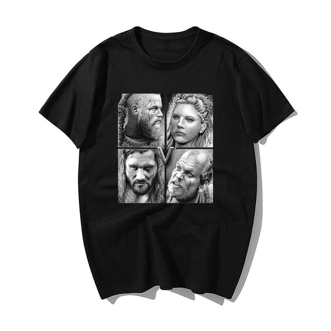 Mode TV Show Odin Vikings T-shirt homme scandinave Rétro T-shirt des hommes 2019 Nouveau été 100% coton Tops Tee cool Streetwear
