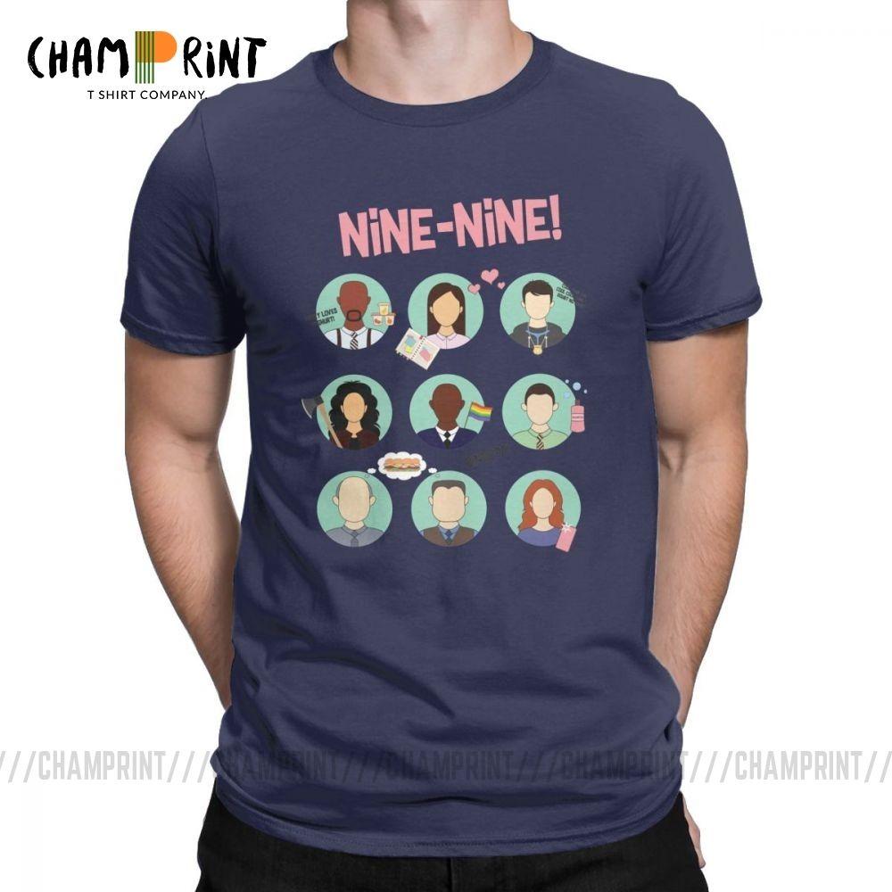 Brooklyn Nine Nine Esquadrão criativa camiseta Homens B99 Terry Jeffords Jake Peralta manga curta roupa Tees Cotton T-shirt 4X 5X 6X