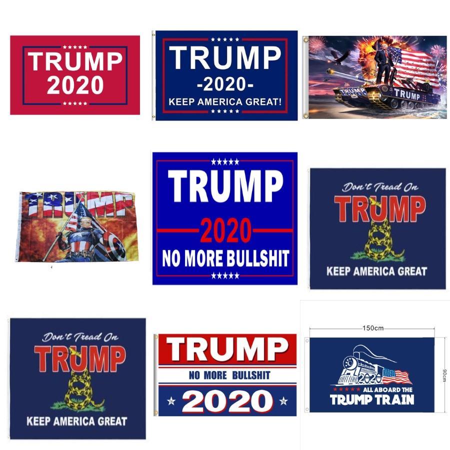 Trump Garden Flags USA President General Election Anner 2020 Trump Flag Wimpel Anner Ostern Flagge für Ome Außen Dekor # 162