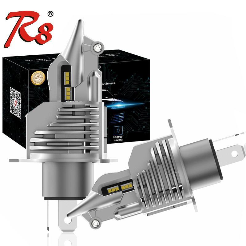 2PCS Design Wireless Fighter H4 2 9003 Car Motorcycle LED Headlight Bulbs Auto 12V 70W 5800Lumens 6500K White Plug Play