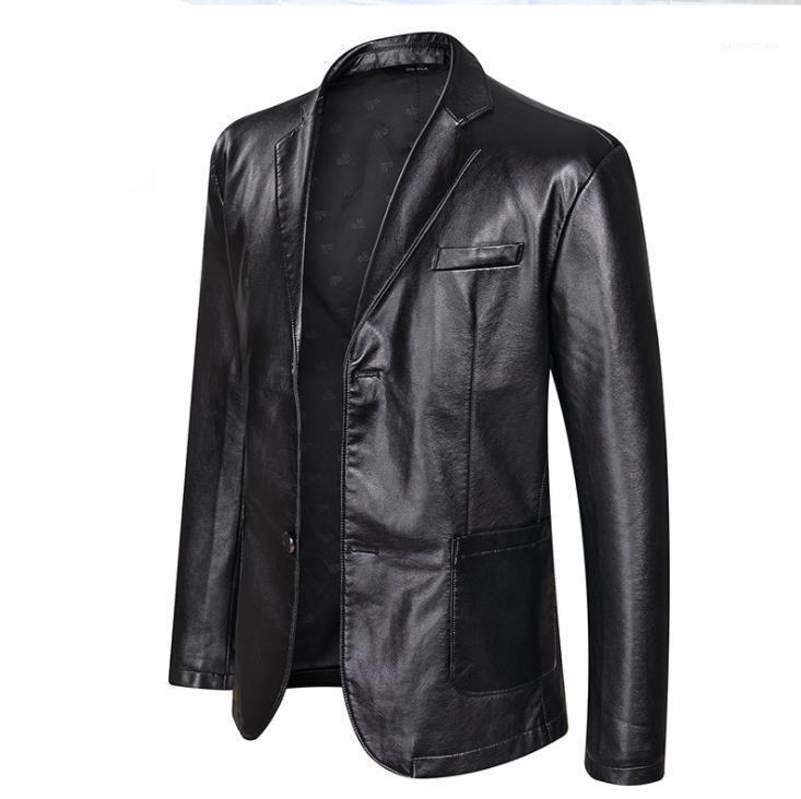 Casual Einreiher Bekleidung Mäntel Designer-Jacke 5XL 6XL Plus Size Mens Big PU Lederjacken