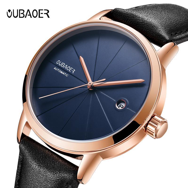 Наручные часы Relojes 2021 Ochstin Механические часы Мужские верхние автоматические Мужские Кожаные Бизнес Часы