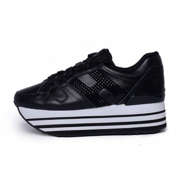 Arco iris de colores las zapatillas de deporte de la plataforma de las mujeres calzados informales Cordones de las señoras del cuero genuino de los zapatos de Tenis Femenino blanca Chunky zapatillas NE5B #