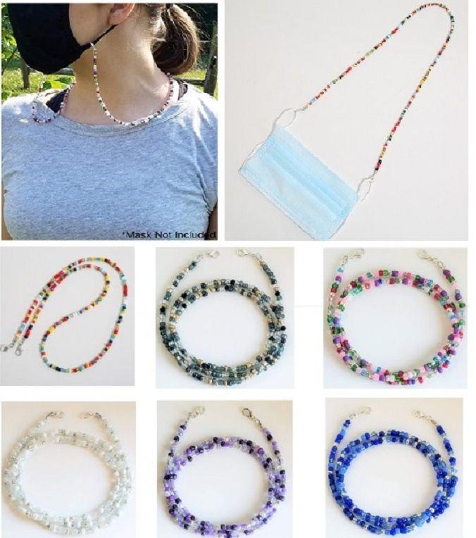Mode perles colorées Mask Longe Vintage Porte de la chaîne pour les lunettes Masque Collier Femme Bijoux Party Cadeaux DHL SHIP HH9-3301