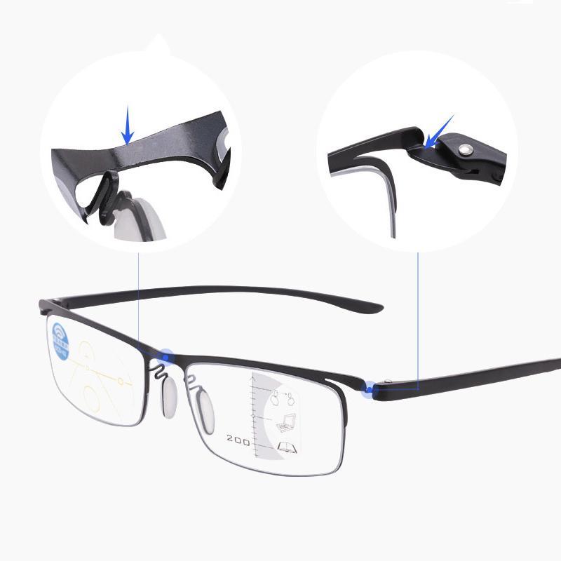 360 Derece Halka odak Okuma Gözlüğü Anti-mavi ışık Diyoptri Progresif Multifokal Gözlük Erkekler Kadınlar Presbiyopi Gözlükler