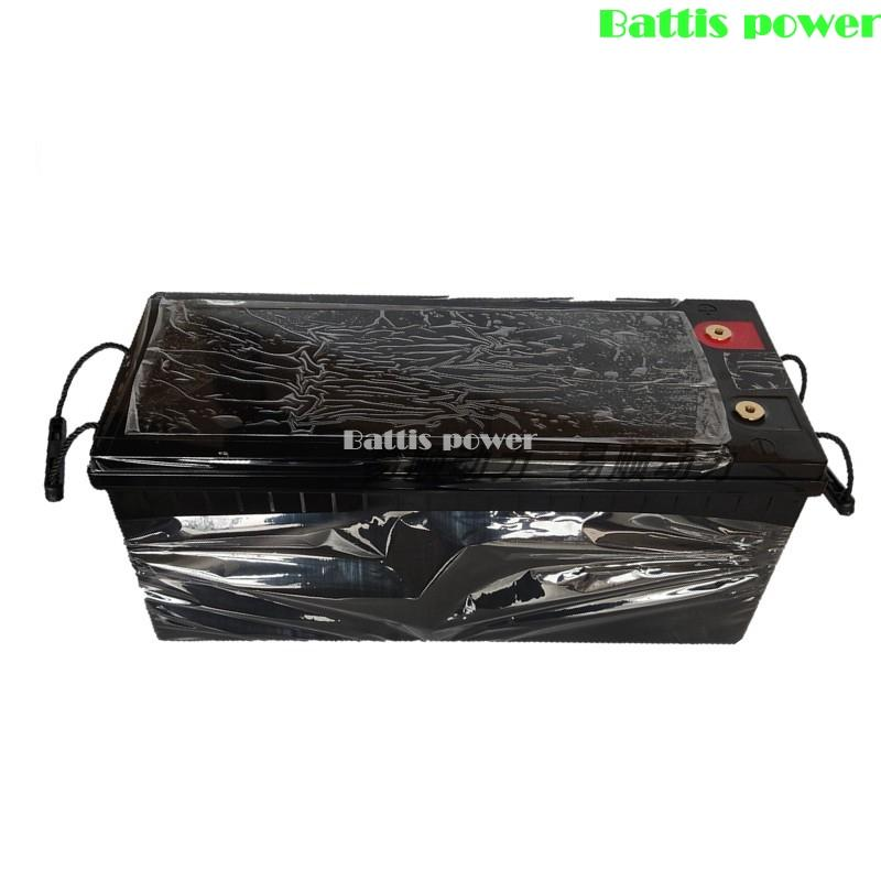 Wasserdichte Lifepo4 12V 200AH Lithium-Batterie BMS 12,8 V für Wechselrichter Solarenergie Campe Gabelstapler Boot Lampe RV + 10A Ladegerät