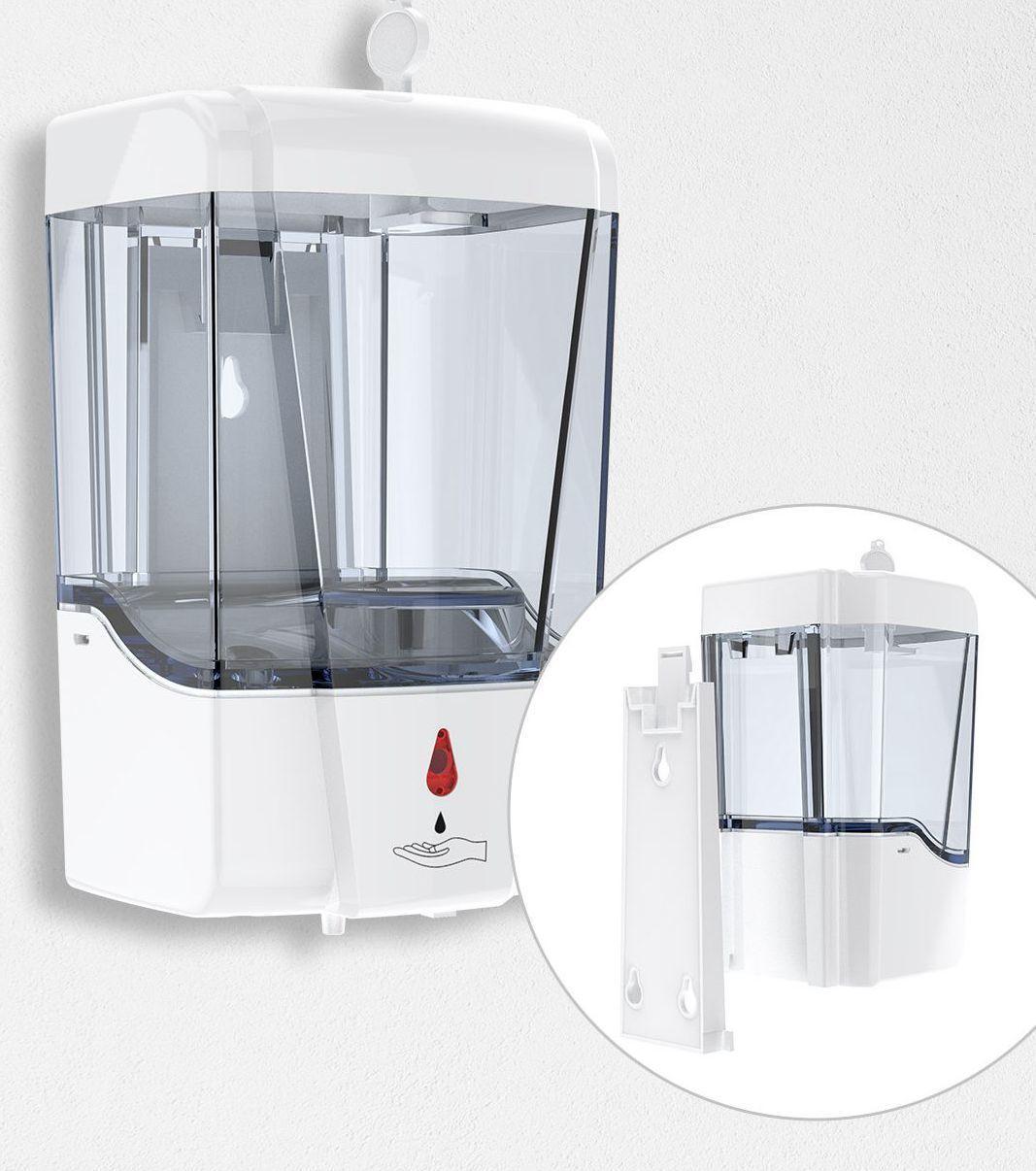 Sensor inteligente 700 ml automático dispensador de jabón Touchless USB Baño Alimentador del jabón líquido de manos libres Touchless dispensador del desinfectante KKA7901-3