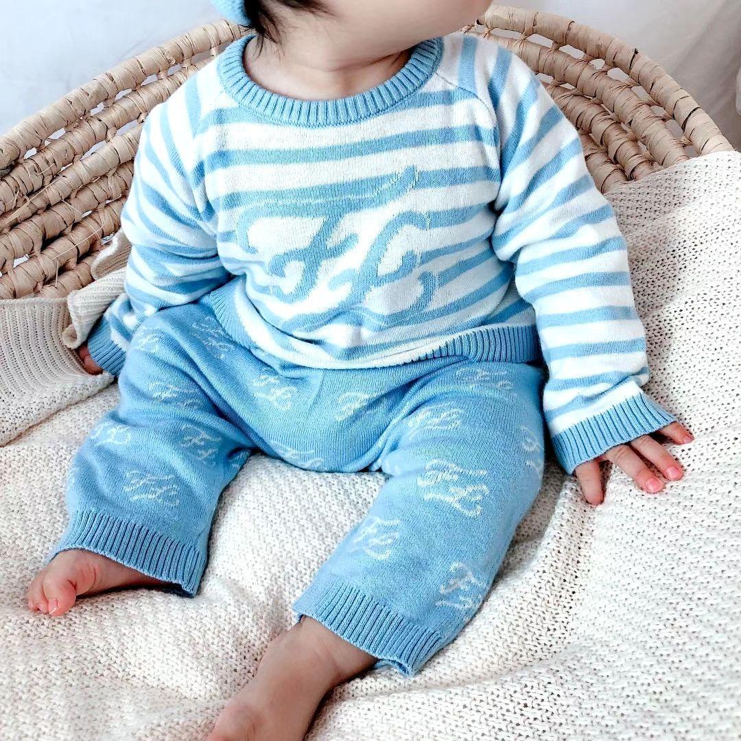 3 colori Ragazza neonato Ragazzi maglione con pantaloni 2pcs set inverno lavoro a maglia dei vestiti Pullover Maglione per bambini