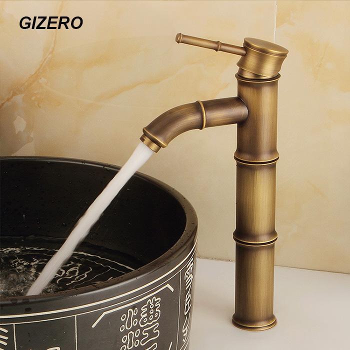 Новая Смесители для ванной Античный ретро Бамбуковый дизайн бассейна Смесители на бортике раковины сосуда смесителя Грифо ZR139
