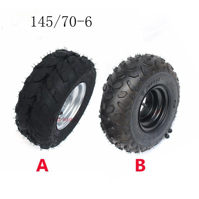 New 145/70-6 Inch Wheel Tyres Tire Rim for 49cc 50cc 110cc Electric ATV Scooter Buggy Go Kart Bike Vehicle Parts Off Road