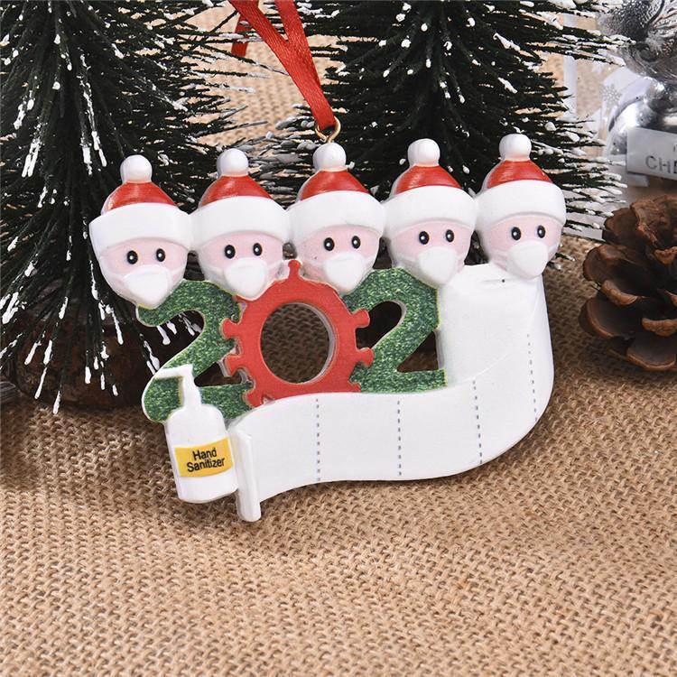 2020 الحجر زينة عيد الميلاد أعياد الميلاد هدية شخصية المعلقة أقنعة حلية مع الوجه عائلة 2 3 4 5 6 7 هوم ديكور A03