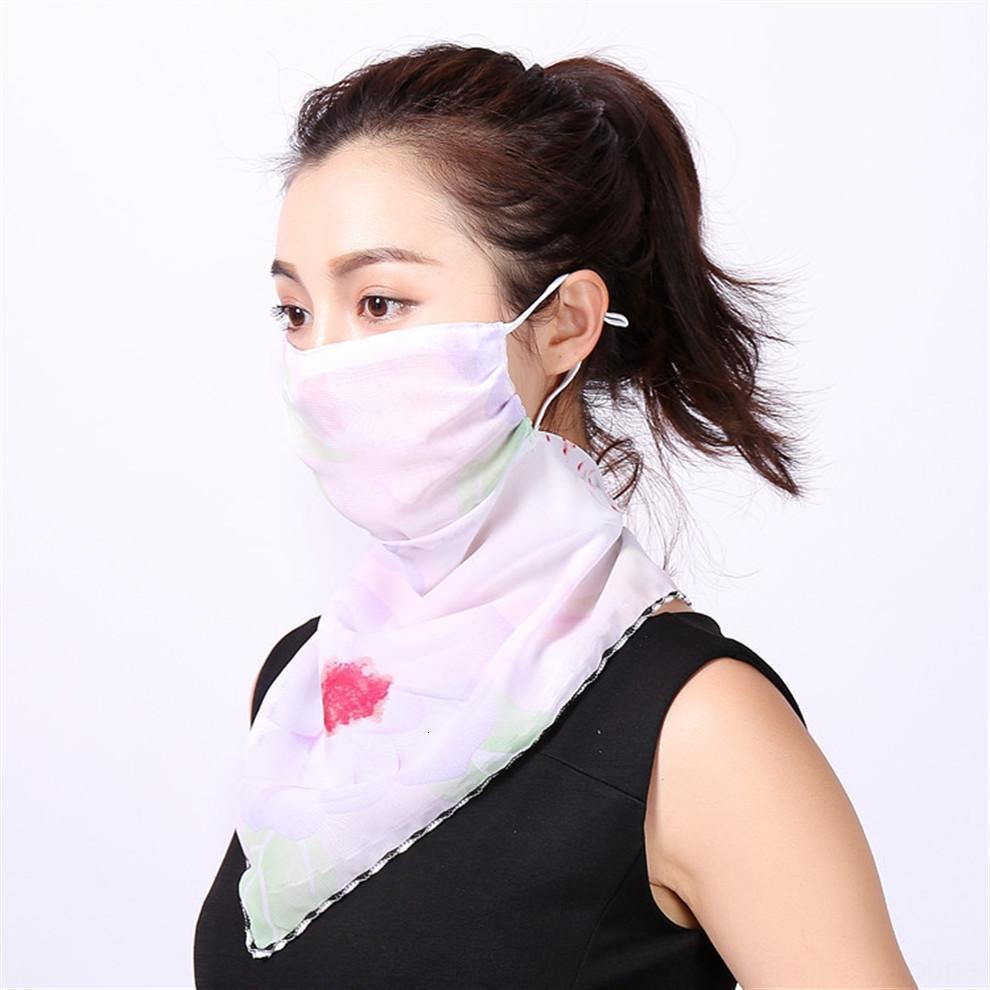 et réutilisable coton Facemask Floral Maskswashable Imprimer Respirant Tissu Masques Faceprotection Bylima Écharpe 2020