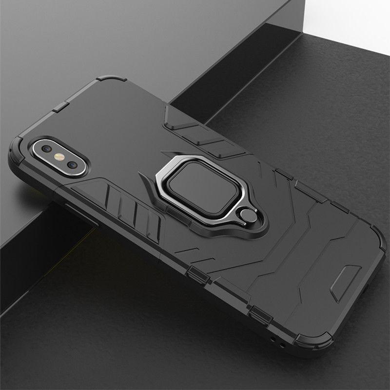 4 Dans 1 cas antichocs pour l'iPhone 6 6S 7 8 Plus XS cas pour l'iPhone 5 X XS X Se 5S Max XR magnétique Téléphone Holders de doigts