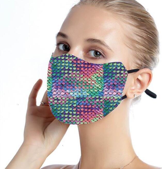РМ2,5 блестка Мода Радуга Bling Защитного пыл Mouth Маска моющихся многоразовые Женщины Party Mask