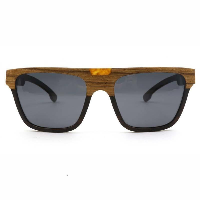 Novo 100% Zebra Madeira Berwer óculos polarizados Handmade Bamboo Mens Sunglass óculos de sol Men Óculos Óculos de Sol Ch01