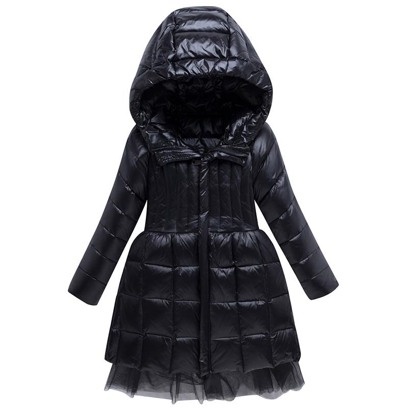 2020 Chaqueta de invierno para las niñas con capucha Cálida Larga Girl Outerwear abrigo 3-12 años Niños Adolescentes Parka
