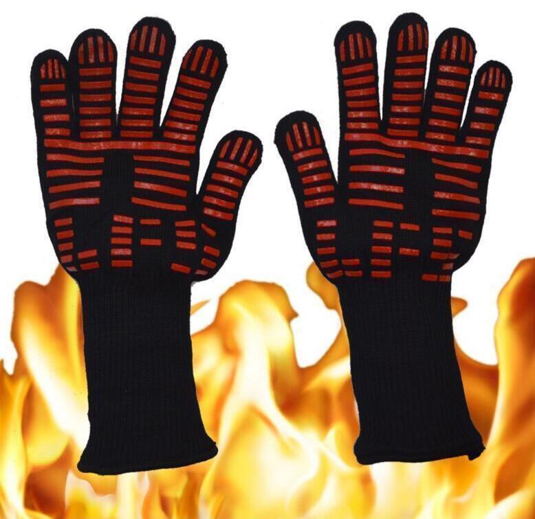 Guante de cocina de silicona calor Guantes resistentes guantes resistentes a 500 grados Celsius la temperatura de cocción guantes para hornear barbacoa Horno herramientas de la cocina 9977 211