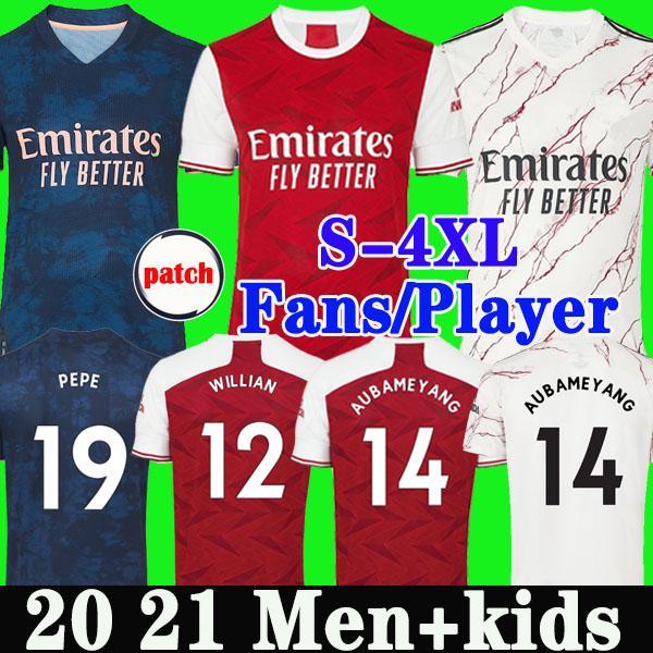 عدد المعجبين لاعب نسخة أرسين لكرة القدم جيرسي 20 21 PEPE SAKA NICOLAS TIERNEY HENRY يليان ميتلاند-NILES 2020 2021 لكرة القدم قمصان الرجال الأطفال