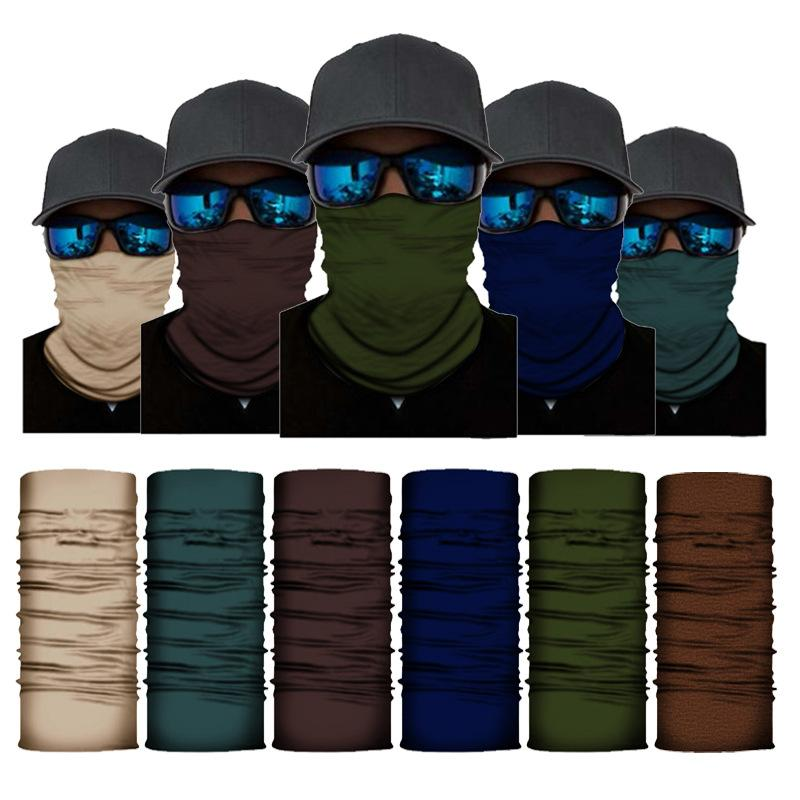 Solid Color Бандана Баффы шеи Gaiter повязка Женщины Мужчины на открытом воздухе Бесшовные Балаклава Многофункциональный маска Шарф головной убор