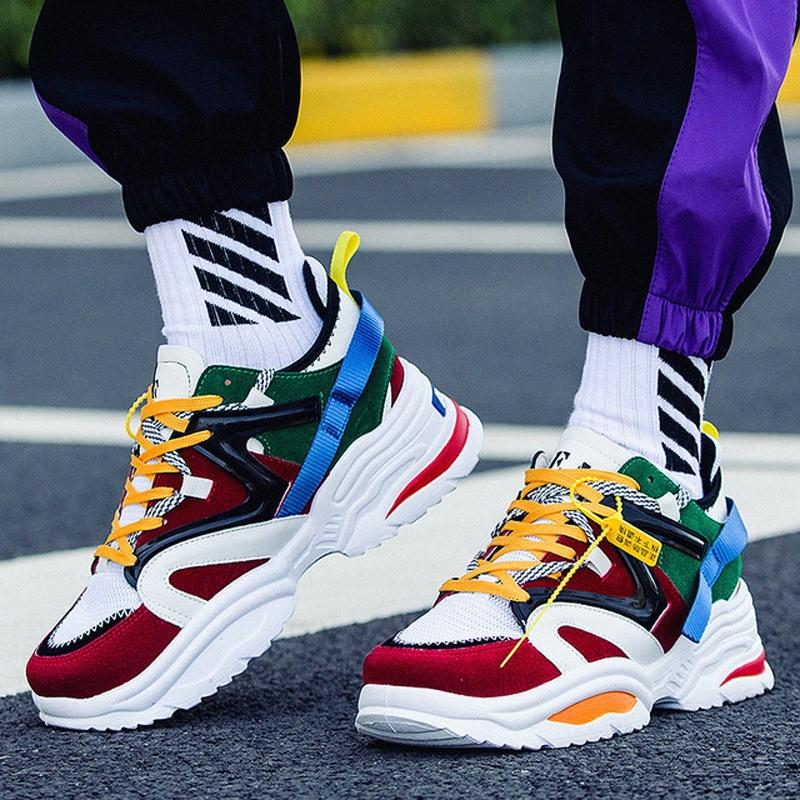 2019 Nova Kanye West 700 Shoes Casual Dad Vintage Dad INS super leve respirável Masculino Zapatillas Hombre Tenis Masculino Tind #
