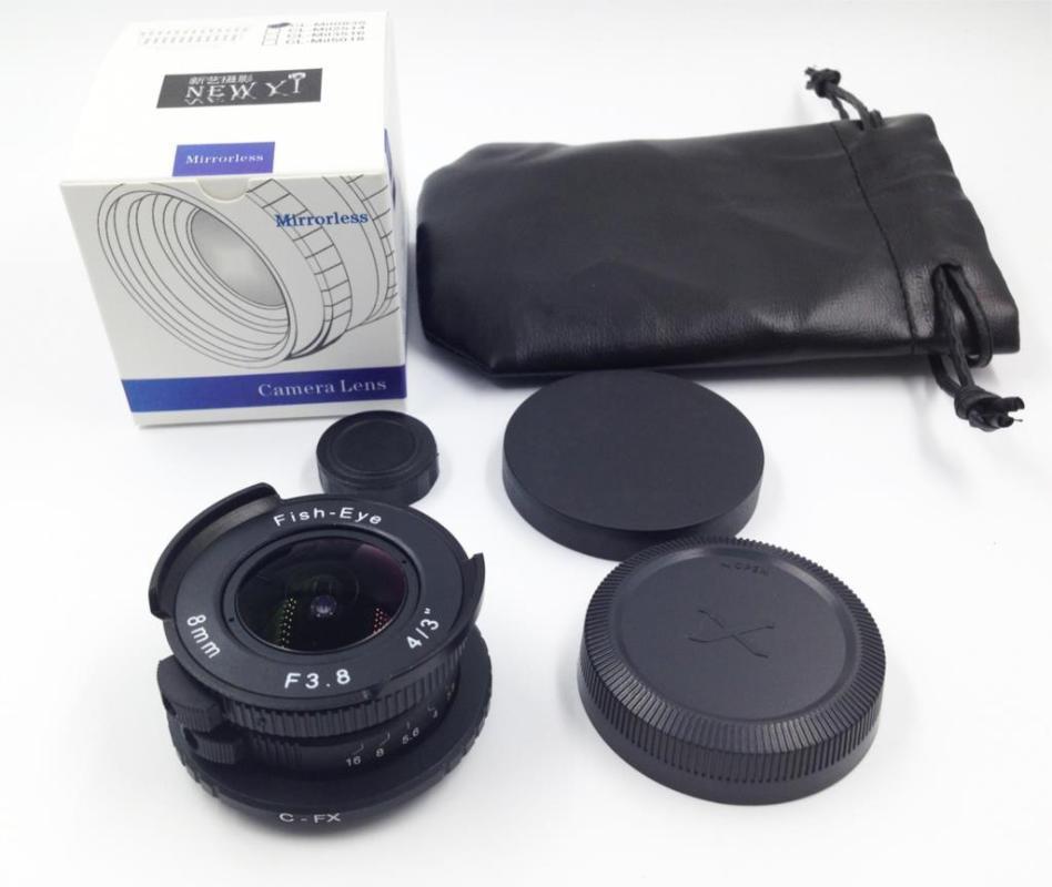 8 milímetros F3.8 CCTV TV Movie c montar Grande Angular Fisheye Lens para Fujifilm X-E2 / X-E1 / X-Pro1 / X-M1 / X-A2 / X-A1 / X-T1 câmera mirrorless