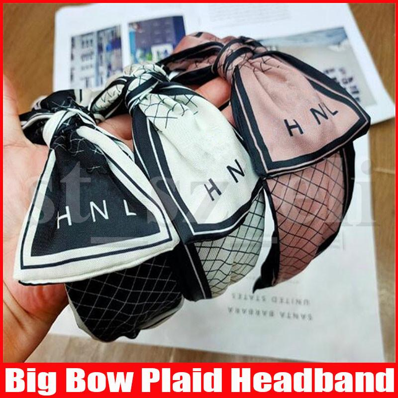 Bow Plaid brief prints hoofdband voor vrouwen stretch hairbands sport hoofdbanden yoga headwrap bandana meisjes haaraccessoires