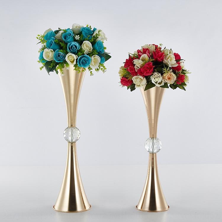 Yeni çift başlı trompet aksesuarları top otel düğün mekan düzeni zanaat malzemeleri Yeni çift başlı trompet accessoriescrystal oymal