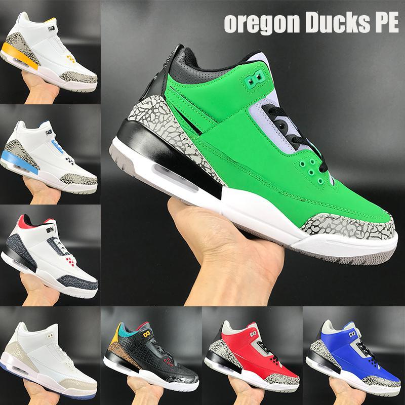 New besten Oregon Ducks PE jumpman Basketballschuhe rot Denim UNC Varsity königs Zement Laser Orange Feuer-Männer Turnschuhe US 7-13