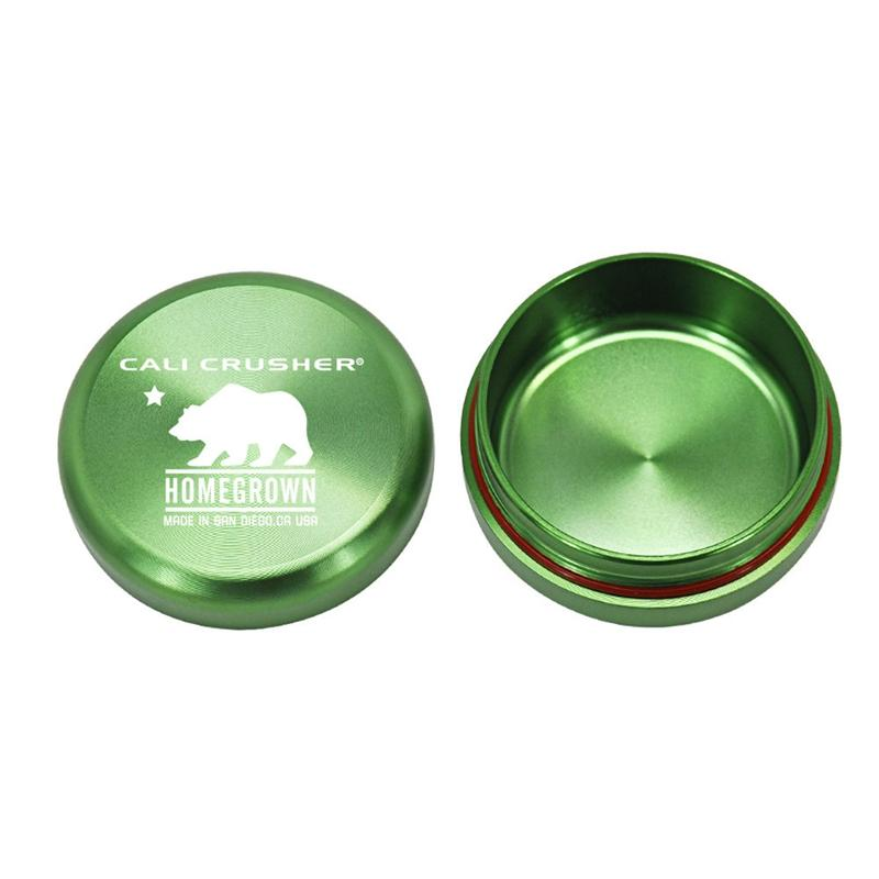 Portable Dab Wax Cali Crusher Tobacco Container Homegrown Medicine Box Metal Pill Cases Jars Storage Holder Dry Herb DHL
